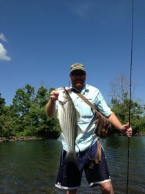 Oklahoma Striper and trout Fishing guide service on the